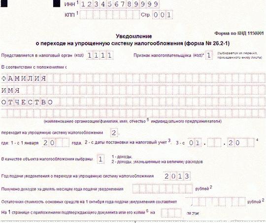 подшитое заявление о регистрации ип
